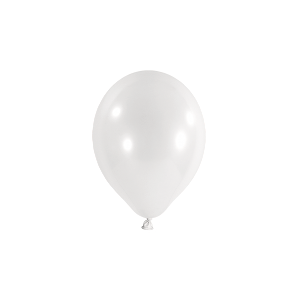 100 Miniballons - Ø 12cm - Weiß