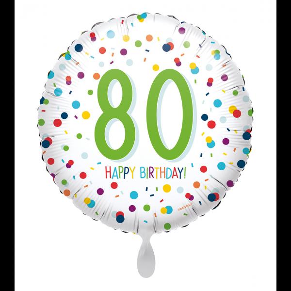1 Ballon - EU Confetti Birthday 80