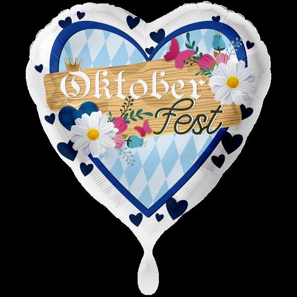 1 Ballon XXL - Oktoberfest Blau