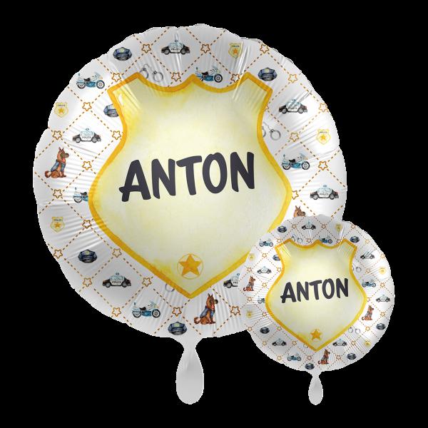 1 Ballon mit Text - Police Academy