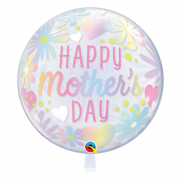 1 Bubble Ballon - Mother's Day Floral Pastel