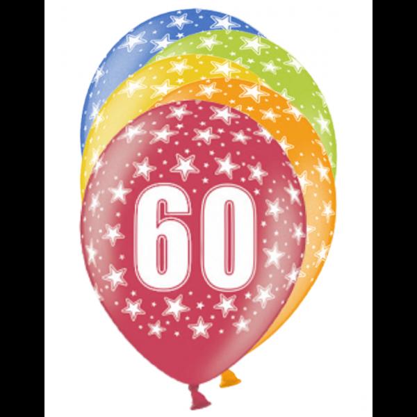 6 Motivballons - Ø 30cm - 60 Celebration