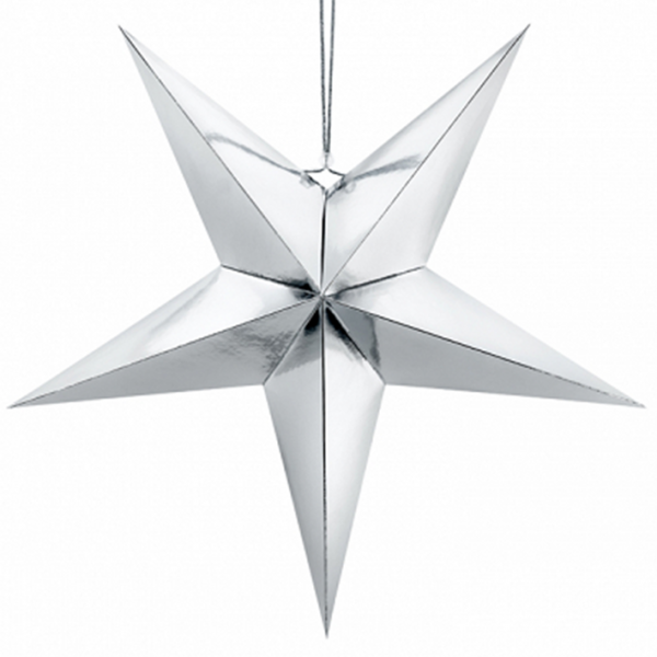 1 Paperstar - 70cm - Silber