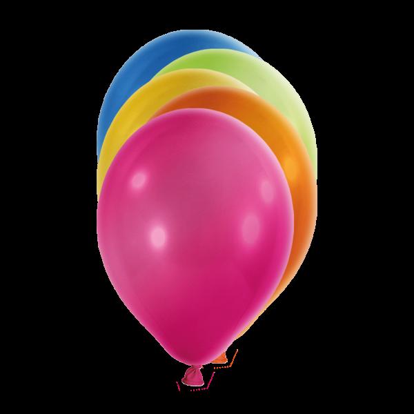 100 Luftballons - Ø 23cm - Metallic - Bunt