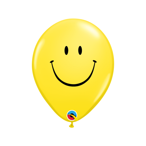 6 Motivballons - Ø 27cm - Smile Face