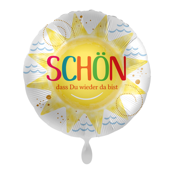 1 Ballon - Schön dass du wieder da bist
