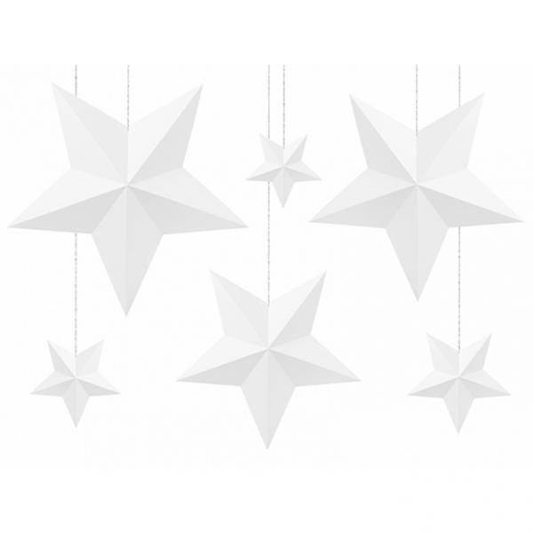 6 Decorstars - Weiß