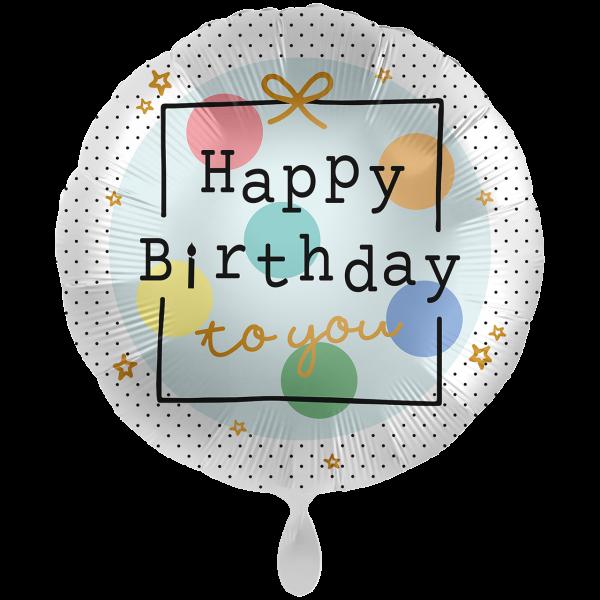 1 Ballon XXL - Birthday Present
