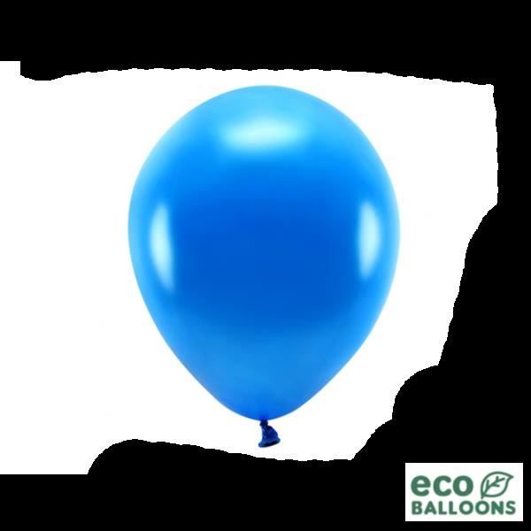 10 ECO-Luftballons - Ø 26cm - Metallic - Navy Blue