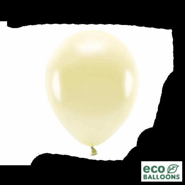 10 ECO-Luftballons - Ø 26cm - Metallic - Straw