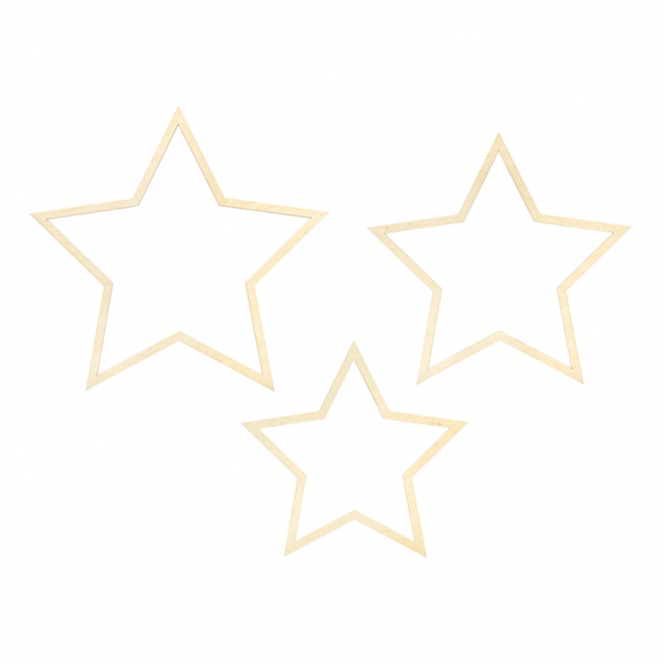 1 Dekoset - Hanging - Mixed Stars - Gold