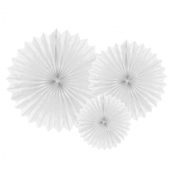 Dekofächer XL - 3er Set - Weiß