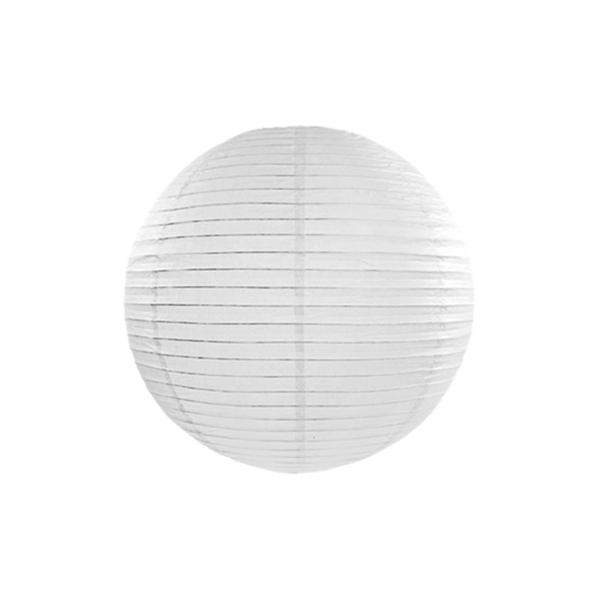 1 Lampion - Ø 25cm - Weiß