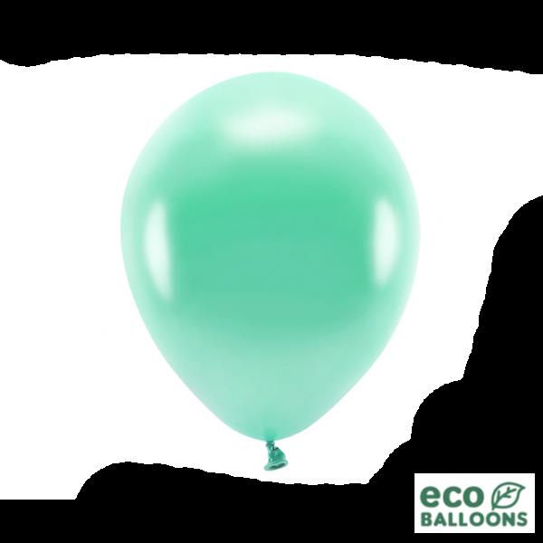 100 ECO-Luftballons - Ø 30cm - Metallic - Dark Mint