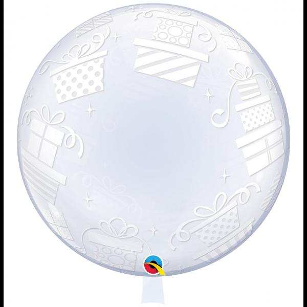 1 Deco Bubble Ballon XL - Wrapped Presents