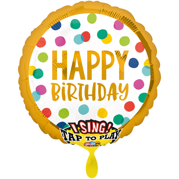1 Musikballon - Happy Dots