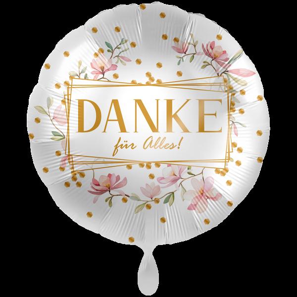 1 Ballon XXL - Danke Blüten