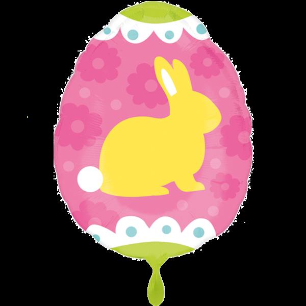 1 Ballon - Yellow and Blue Bunnies