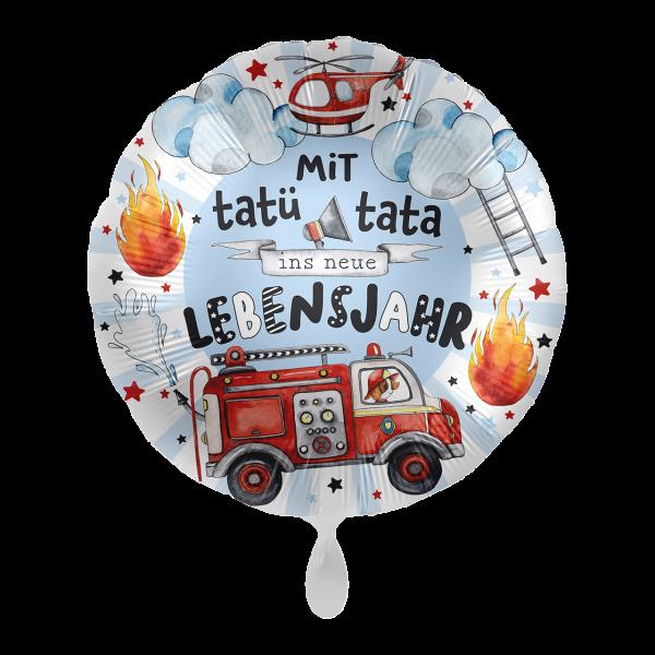 1 Ballon - Happy Fire Engine - Tatü Tata