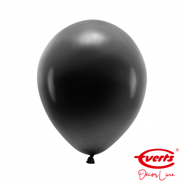 50 Luftballons - DECOR - Ø 28cm - Pearl & Metallic - Jet Black
