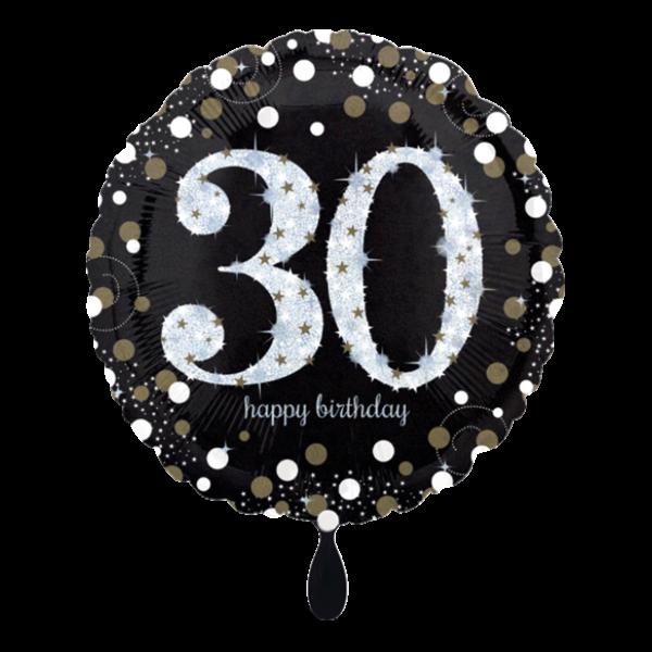 1 Ballon - Sparkling Birthday 30