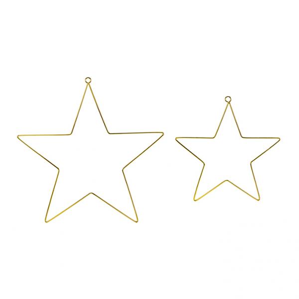 1 Dekoset - Hanging - Mixed Stars Metal - Gold