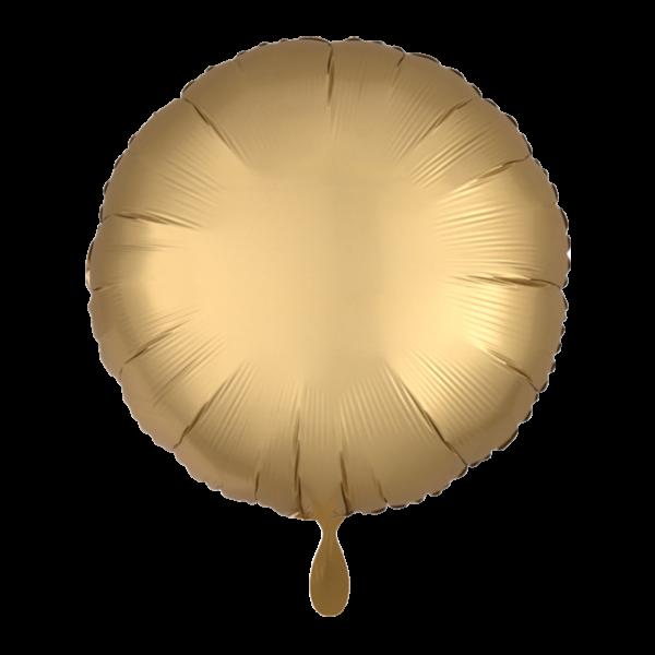 1 Ballon - Rund - Satin - Gold