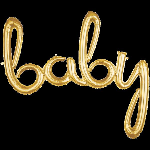 1 Ballon - Schriftzug baby - Gold