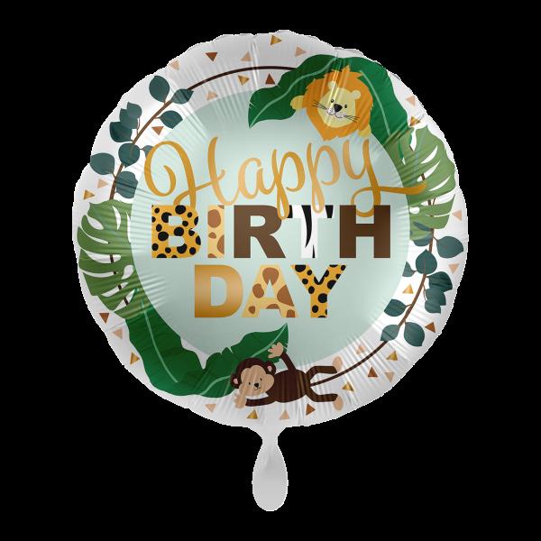 1 Ballon - Jungle Friends - Happy Birthday