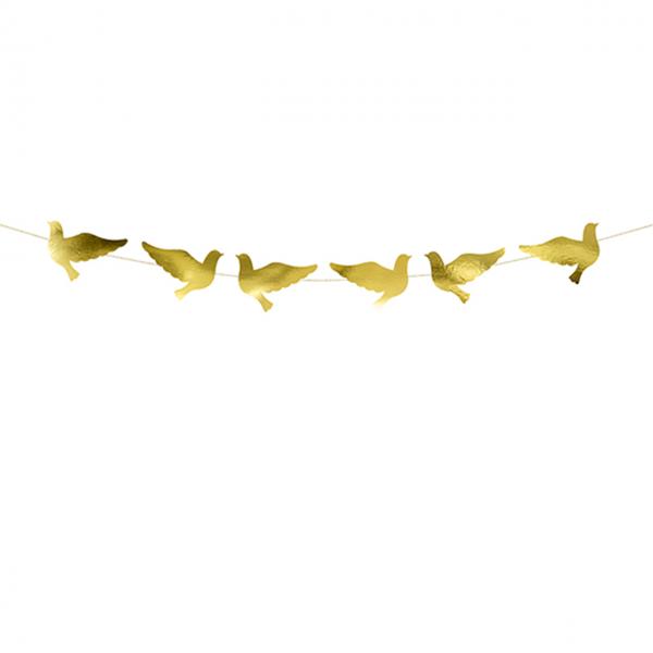 1 Bannergirlande - Tauben