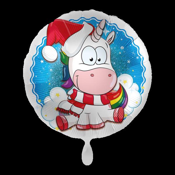 1 Ballon - Christmas Unicorn