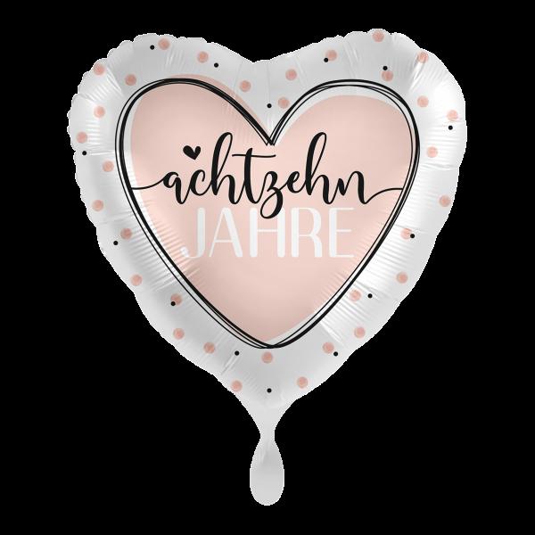 1 Ballon - Glossy Heart 18