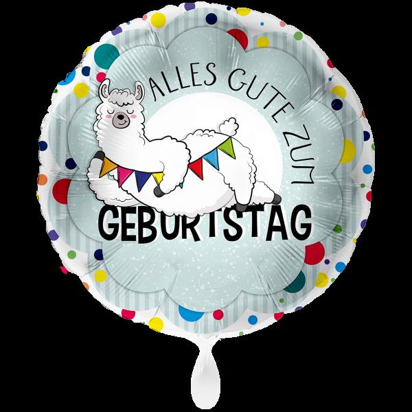 1 Ballon XXL - Lama Geburtstag