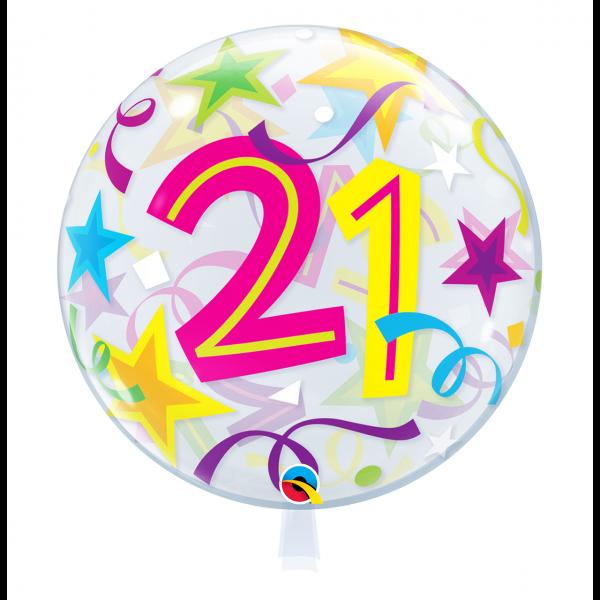 1 Bubble Ballon - 21 Brilliant Stars