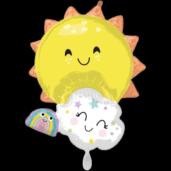 1 Ballon XXL - Rainbow Family