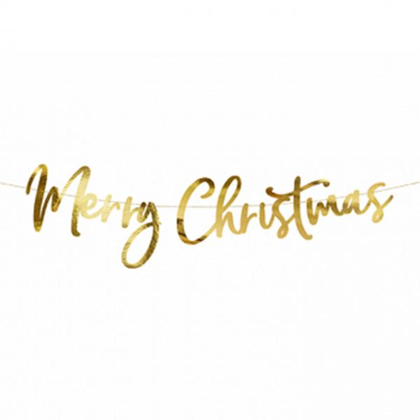 1 Bannergirlande - Merry Christmas