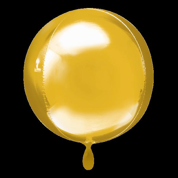1 Ballon - Orbz - Gold