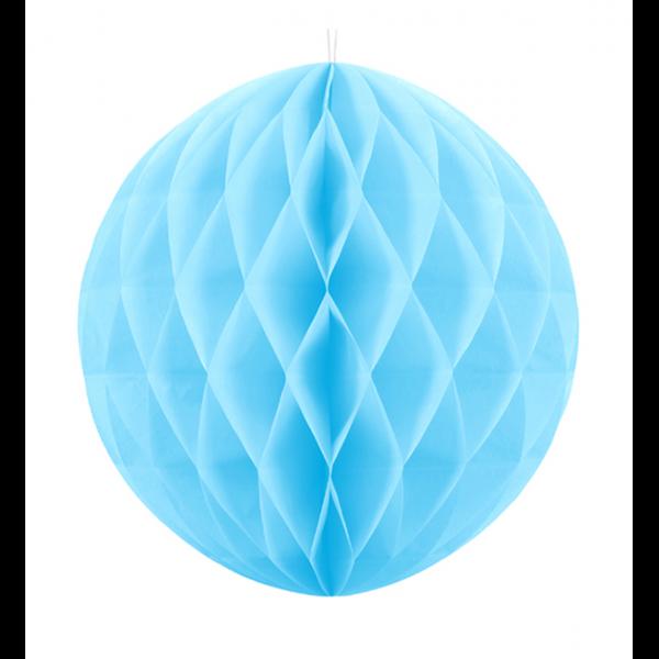 1 Wabenball XXL - Ø 30cm - Hellblau