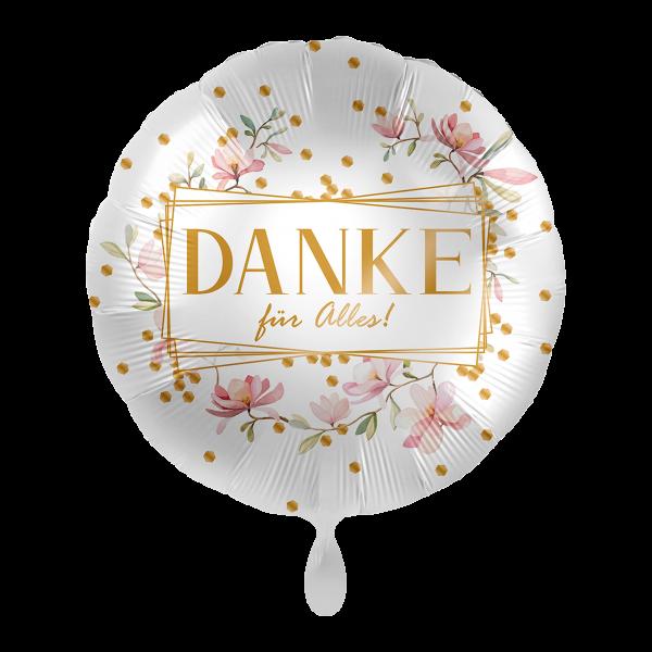 1 Ballon - Danke Blüten