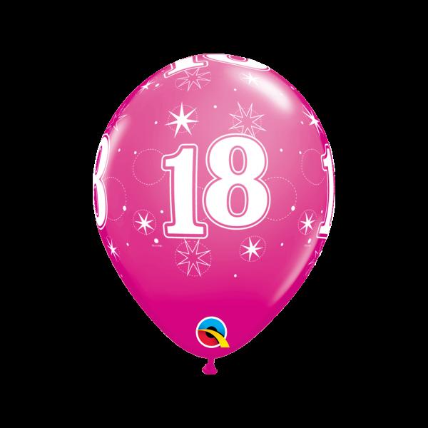 6 Motivballons - Ø 27cm - Age 18
