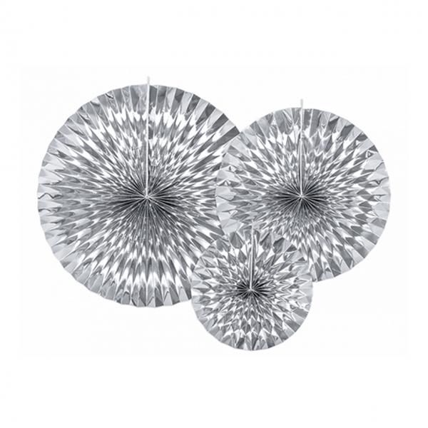 Dekorosetten Chic - 3er Set - Silber