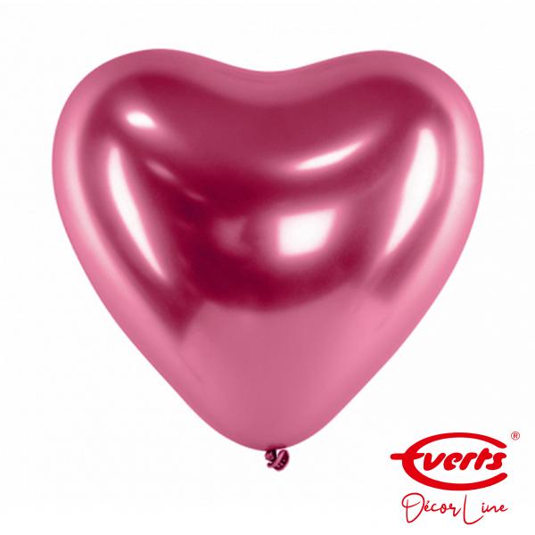 50 Herzballons - DECOR - Ø 30cm - Satin Luxe - Flamingo