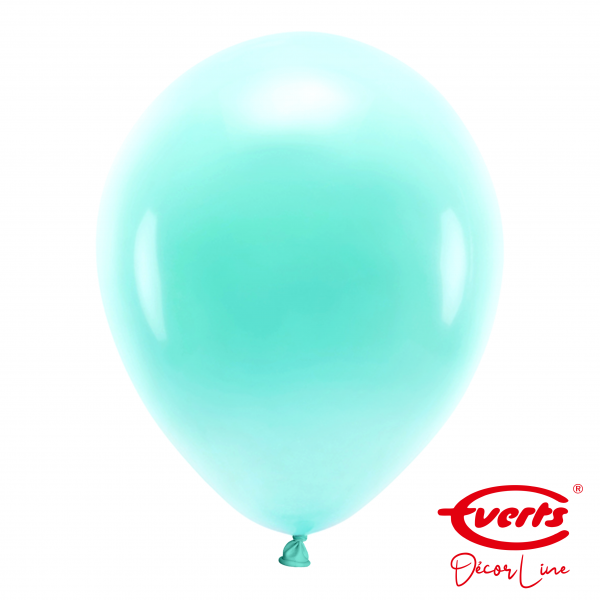50 Luftballons - DECOR - Ø 35cm - Pearl & Metallic - Robins Egg Blue
