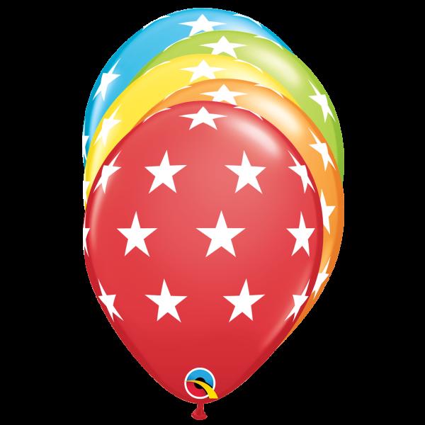 6 Motivballons - Ø 27cm - DECOR - Big Stars
