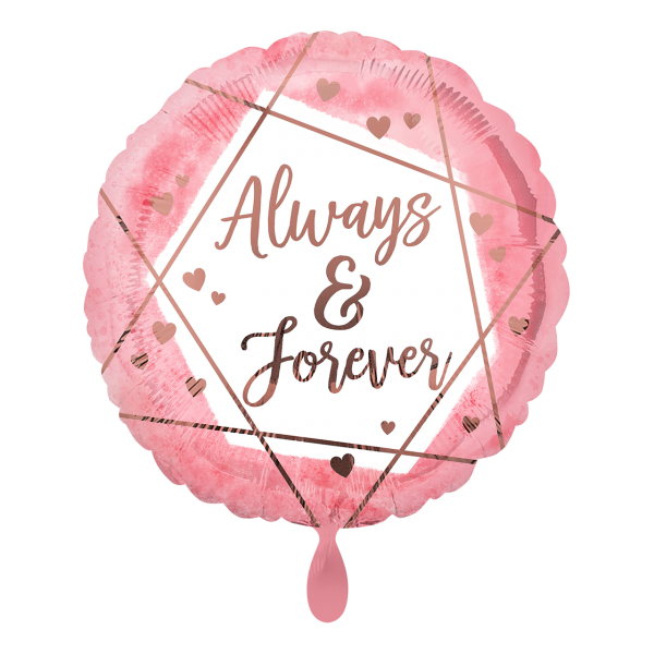 1 Ballon - Always & Forever Watercolour
