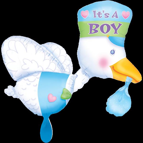 1 Ballon XXL - Bundle of Joy Stork - Its a Boy