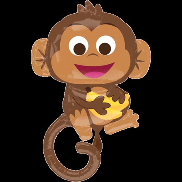 1 Ballon XXL - Happy Monkey
