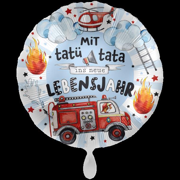 1 Ballon XXL - Happy Fire Engine - Tatü Tata