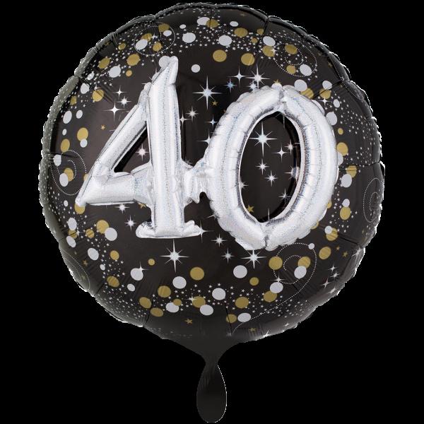 1 Ballon XXL - Sparkling Birthday 40