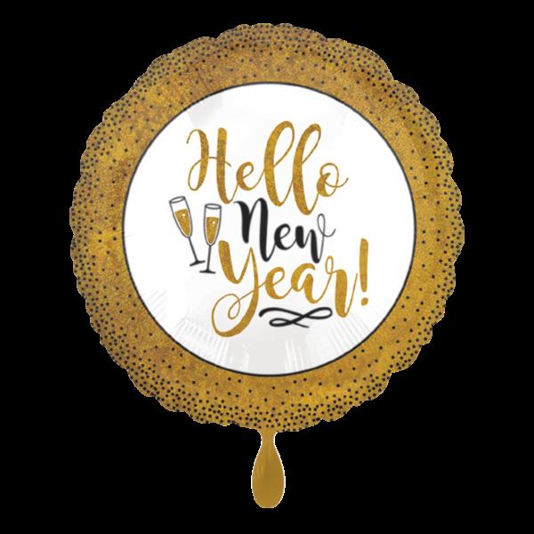 1 Ballon - Gold Glitter New Year